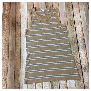 James Perse Retro Stripe Tank - Size 2 (Medium)